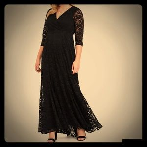 Black Floor Length Lace Dress from Torrid